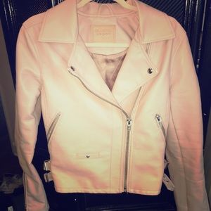 Baby Pink Vegan Leather Jacket- Blank NYC
